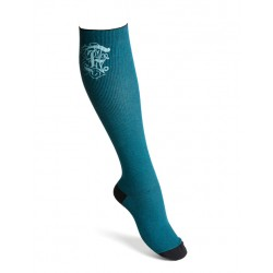 Compression socks cotton petrol
