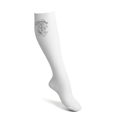 Compression socks cotton white