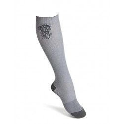Compression socks cotton grey