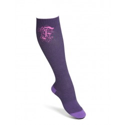 Compression socks cotton purple
