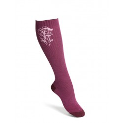 Compression socks cotton burgund