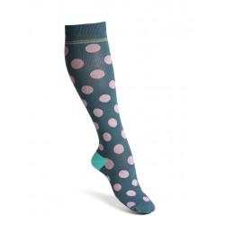 Compression socks dots dusty blue