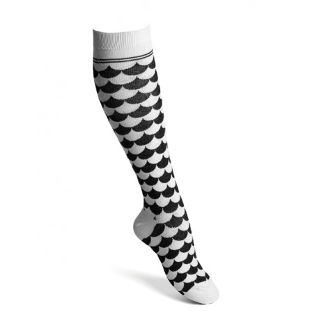 Compression socks wave black-white