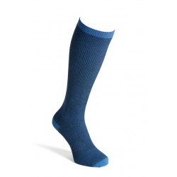 Compression socks cotton blue men