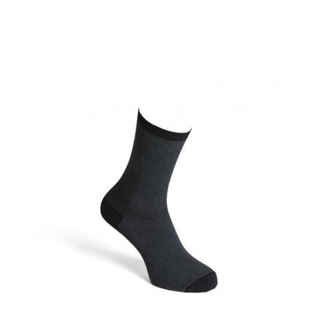 Comfort socks cotton blackgrey men