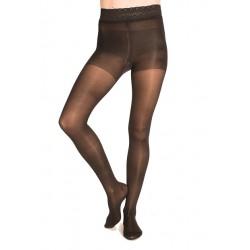 Compression tights nylon lace black