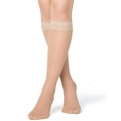 Compression knee highs nylon lace skin