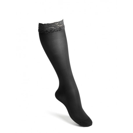 Compression knee highs nylon lace black