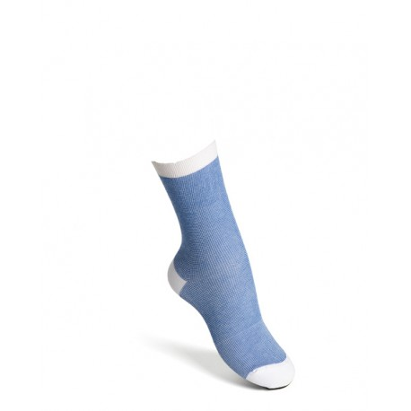Comfort socks cotton light blue